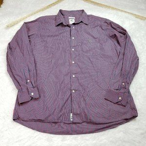Lacoste Mens Button Shirt 45 US XL Extra Large